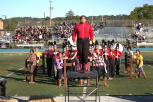 Drum Major Lucy Smeets and GRHS Marching Band take 1st Place at Wayne Valley Competition, Sep 2016