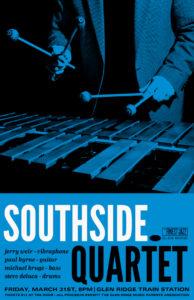 Southside Quartet Poster Blue